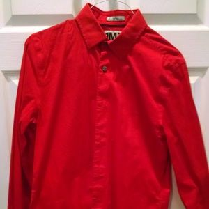 Men's Red Express Fitted 1MX Long Sleeve Shirt